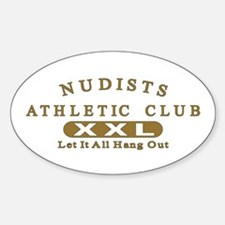 Nudist Athletic Club Oval Decal