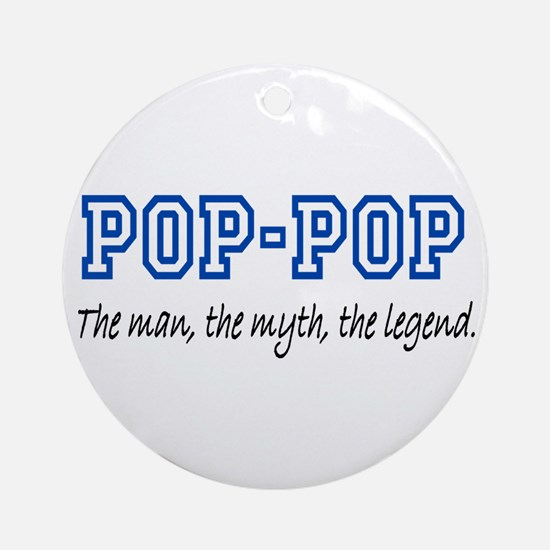 Pop-Pop Ornament (Round)