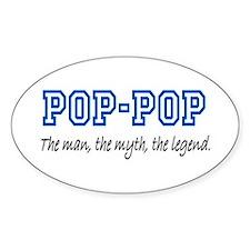 Pop-Pop Oval Bumper Stickers