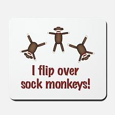 Flip Over Sock Monkeys Mousepad