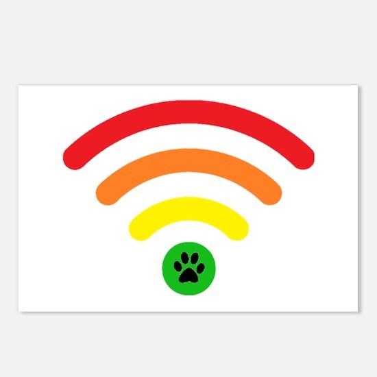 Rainbow Bridge Online Logo Postcards (Package of 8