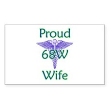 68W Wife Rectangle Decal