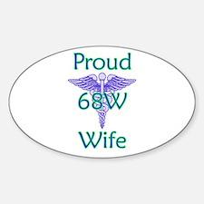68W Wife Oval Decal
