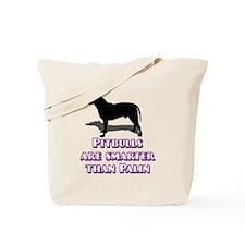 Pitbulls vs Hockey Mom Tote Bag