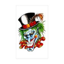Mad Evil Clown Tattoo Rectangle Sticker 10 pk)