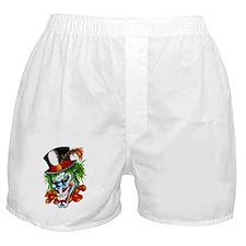Mad Evil Clown Tattoo Boxer Shorts
