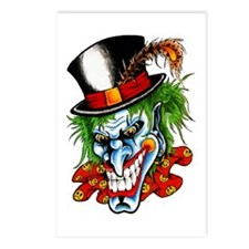 Mad Evil Clown Tattoo Postcards (Package of 8)