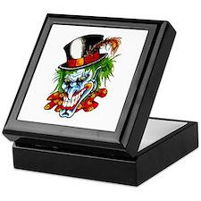 Mad Evil Clown Tattoo Keepsake Box