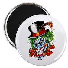 Mad Evil Clown Tattoo Magnet