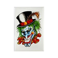 Mad Evil Clown Tattoo Rectangle Magnet