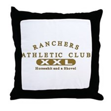 Ranchers Athletic Club Throw Pillow