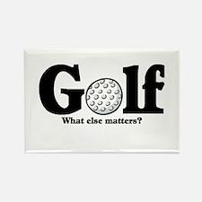 Golf, What else matters? Rectangle Magnet