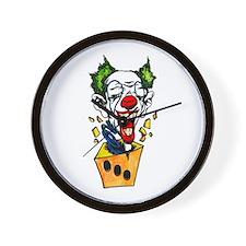 Clown Jack in the Box Tattoo Wall Clock