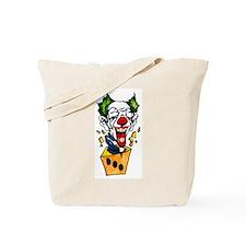 Clown Jack in the Box Tattoo Tote Bag