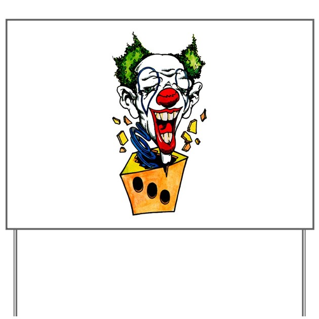 clown jack in the box tattoo yard sign by tattooartshirts. Black Bedroom Furniture Sets. Home Design Ideas