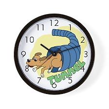 Tunnel Dog Agility Clock (Cartoon)