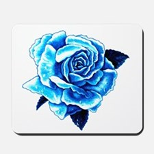Ice Blue Rose Mousepad