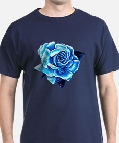 Ice Blue Rose T-Shirt