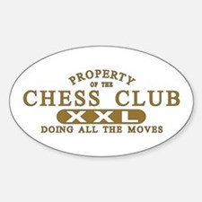 Chess Club Oval Decal