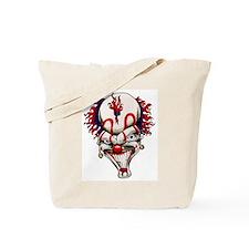 Mad Crazy Clown Tattoo Tote Bag