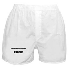 Childcare Workers ROCK Boxer Shorts