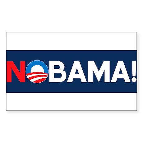 """NOBAMA!"" Rectangle Sticker"