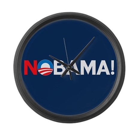 """NOBAMA!"" Large Wall Clock"