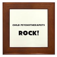 Child Psychotherapists ROCK Framed Tile