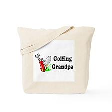 Golfing Grandpa Tote Bag