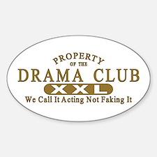 Drama Club Oval Decal