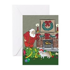 Santa's Helper Manx Greeting Cards (Pk of 20)
