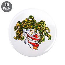 "Circus Clown Tattoo Art 3.5"" Button (10 pack)"