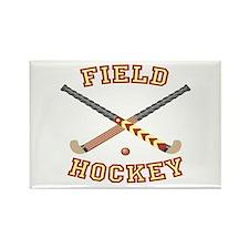 Field Hockey Rectangle Magnet