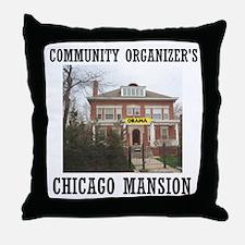 OBAMA'S MANSION Throw Pillow
