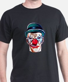 Mad Angry Clown Tattoo (Front) T-Shirt