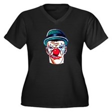 Mad Angry Clown Tattoo (Front) Women's Plus Size V