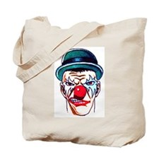 Mad Angry Clown Tattoo Tote Bag