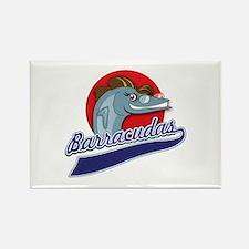 Barracudas Rectangle Magnet