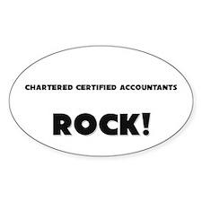 Chartered Certified Accountants ROCK Sticker (Oval