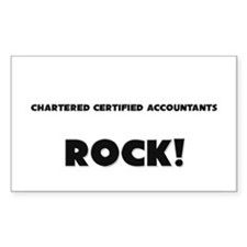 Chartered Certified Accountants ROCK Sticker (Rect