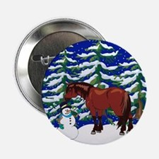 "Winter Clydesdale 2.25"" Button"