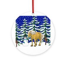 Winter Belgian Ornament (Round)