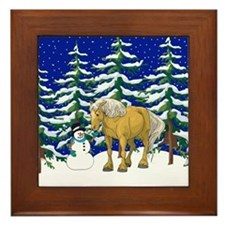 Winter Belgian Framed Tile