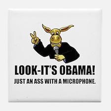 Anti-Obama Ass Tile Coaster