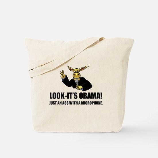 Anti-Obama Ass Tote Bag