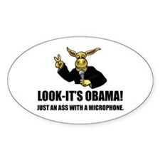 Anti-Obama Ass Oval Decal