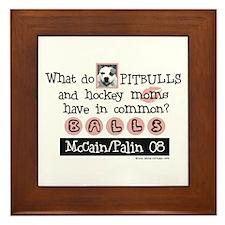 Pitbull Palin Framed Tile