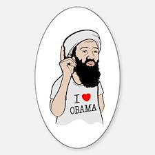 Osama Love Obama Oval Decal