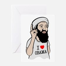Osama Love Obama Greeting Card