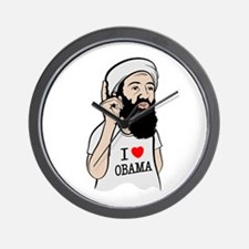 Osama Love Obama Wall Clock
